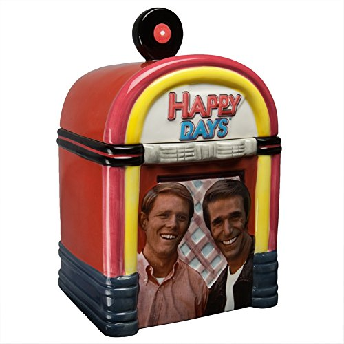 Westland Giftware Happy Days Happy Days Jukebox Cookie Jar, 11-Inch - Happy Cookie Day