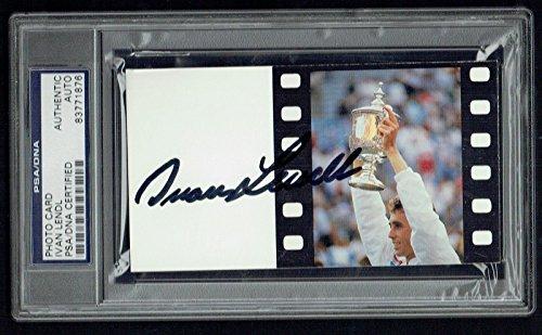 Ivan Lendl signed autograph 3x5 index card 1980's Tennis Legend PSA Slabbed 1980 Baseball Legends
