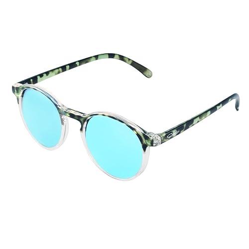 Gafas de Sol, Crooked Gafas de Sol Leopard Colour Unisex Polarizadas con 100% Prtección