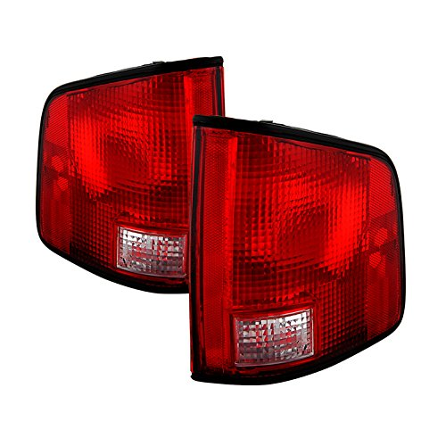 Tail Lights For 94-04 Chevy S10 /94-04 GMC S15 Sonoma /96-00 Isuzu Hombre with Black Edge OE Style - -