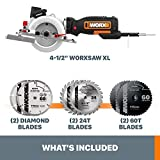 WORX WX427L 6A 4-1/2'' Corded Compact Circular Saw