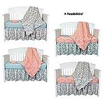 Grey-Dahlia-4-in-1-Baby-Girl-Crib-Bedding-Collection-by-Balboa-Baby