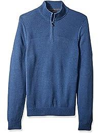 Men's 1/4-Zip Solid Sweater