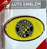 Columbus Crew Raised Metal Domed Oval Color Chrome Auto Emblem Decal MLS Soccer Football Club