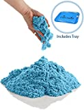 CoolSand Blue 5 Pound Refill Pack - Including: 5 Pounds Moldable Indoor Play Sand, Storage Bucket & Inflatable Sandbox