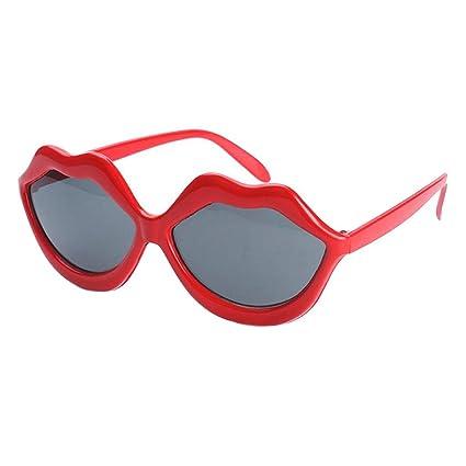 46c324e8c9c48 Amazon.com  Red Lip Shaped Glasses Novelty Glasses Party Sunglasses ...