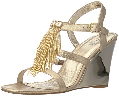 Sandal Gold Papell Wedge Adrianna Women's Adair Iawx0RXP