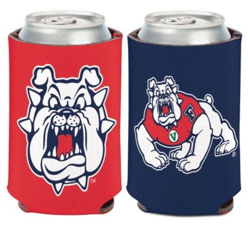 NCAA Fresno State University Bulldogs 1 Pack 12 oz. 2-Sided Can Cooler