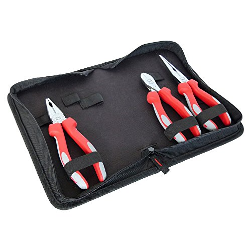 800005 Plier Set 3 Pcs Chromed with Comfortable Multi Component Handles by VBW