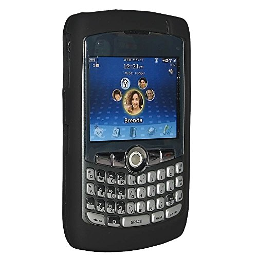 Amzer Silicone Skin Jelly Case for BlackBerry 8300 Curve - Jet Black