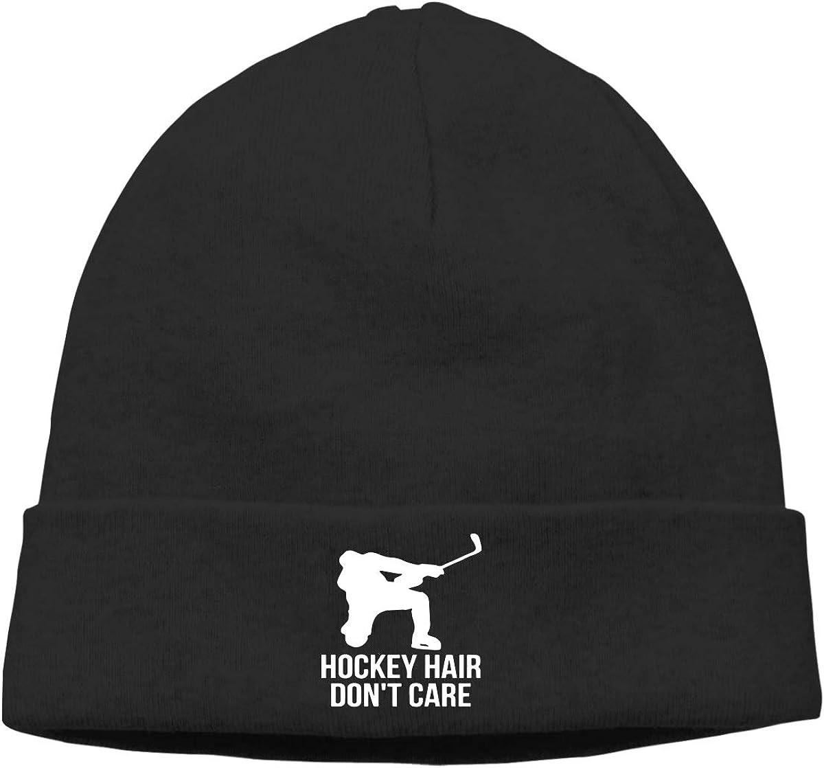 BBlooobow Men Women Hockey Hair Don't Care Soft Beanie Hat