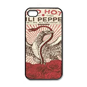 RHCP Red Hot Chilli Peppers Image On The iPhone 4 4s Black Cell Phone Case AMW895713