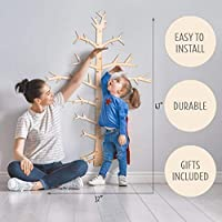 Easy to Install ! Growth Chart for Kids - Wooden Ruler Growth Chart - Height Chart for Kids - Wooden Wall Chart