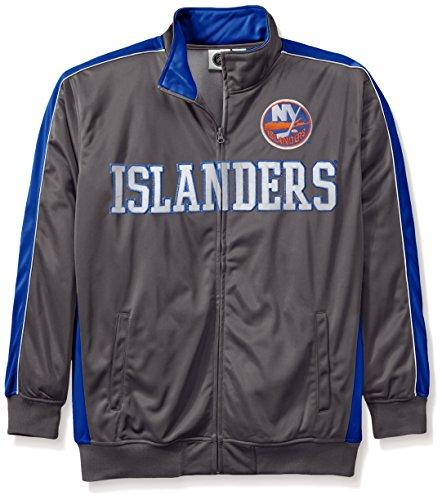 NHL New York Islanders Men's Reflective Track Jacket, 2X/Tall, Charcoal/Royal - Ny Islanders Jacket