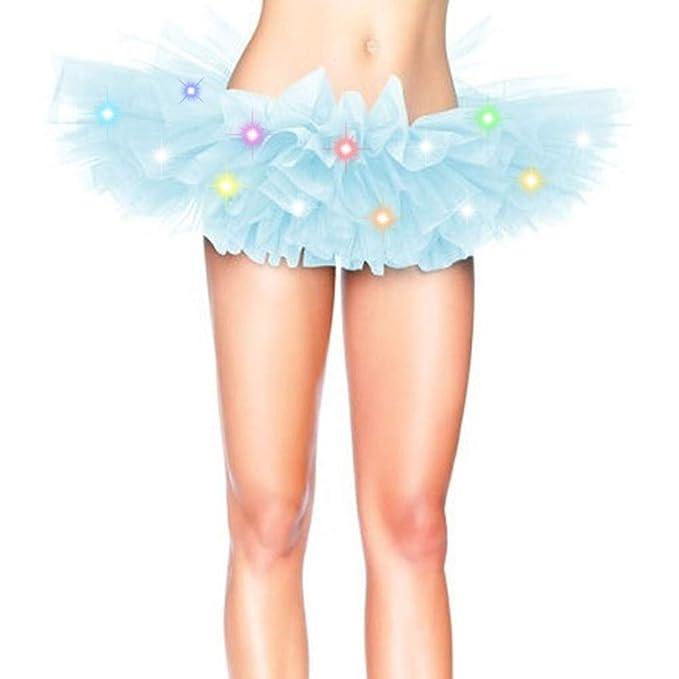 Falda de tutú azul con luces led