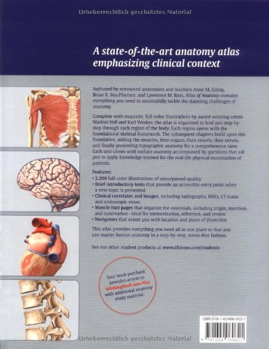 Atlas of Anatomy (Thieme Anatomy): Amazon.co.uk: Anne M. Gilroy ...