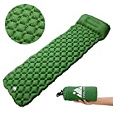 Cheap Evoland Camping Sleeping Pad with Pillow, Self Inflating Sleeping Pad for Camping, Backpacking, Hiking, Lightweight, Waterproof, Compact, Durable, Storage Bag Included (Green)