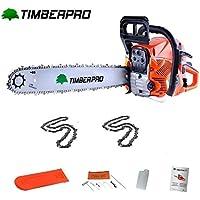 Tronçonneuse Thermique 62 cm3 guide 60 cm avec 2 chaines 94 maillons + accessoires