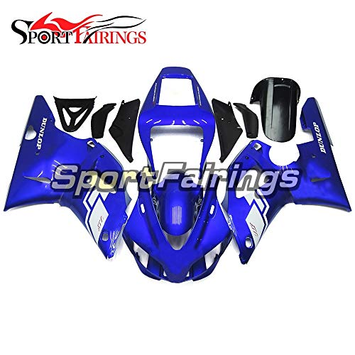 (Sportbike Fairings ABS Plastic Injection Gloss Blue Complete Motorcycle Fairings For Yamaha R1 YZF1000 R1 1998 1999 98 99 Body)