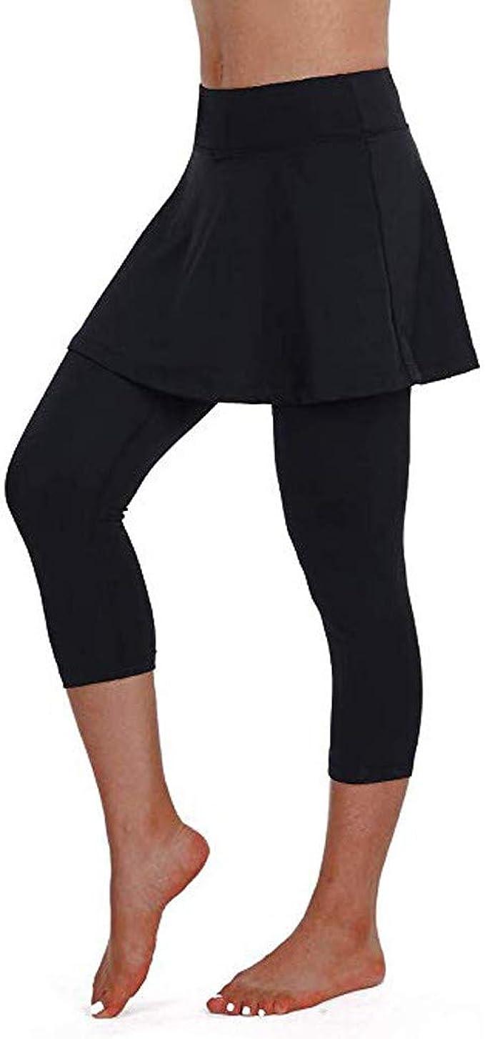 Modaworld Falda pantalon de Deporte mujer casual fitness Leggings ...