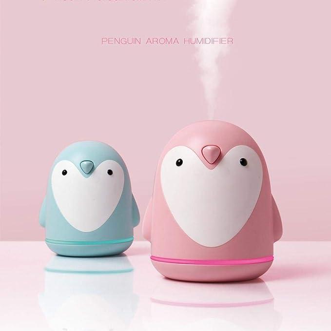 Blue-Yan 3 en 1 humidificador de Aroma de pingüino de 250 ml - humidificador de Aire con Ventilador portátil USB + Ventilador de enfriamiento - Dibujos Animados para el hogar (220ML (MAX)): Amazon.es: Hogar