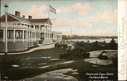 Casino and Cape Shore Portland, Maine Original Vintage Postcard