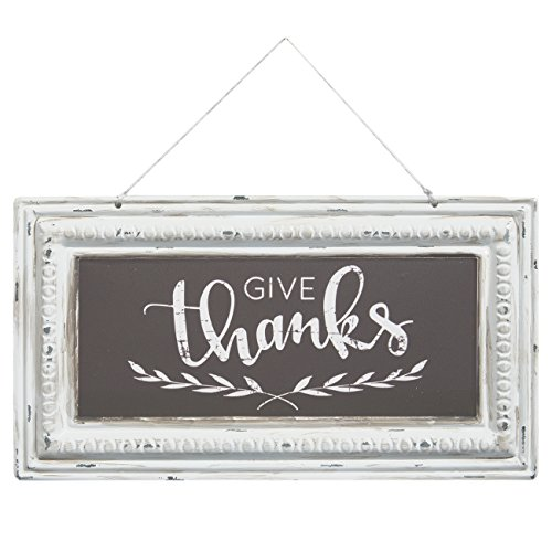 Brownlow Gifts Pressed Tin Sign, Give Thanks -