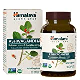 Himalaya Organic Ashwagandha for Stress-relief, Adrenaline Function and Energy Boost 90 Caplets, 3 Month Supply