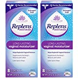 Restores vaginal moisture - Replens Long-lasting Vaginal Moisturizer, 8 Pre-filled Applicators (Pack of 2)