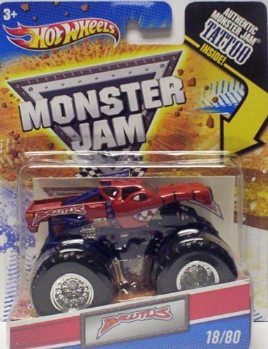 Hot Wheels 2010 Monster Jam #18/80 Brutus 1:64 Scale Collectible Truck with Monster Jam Tattoo by Mattel