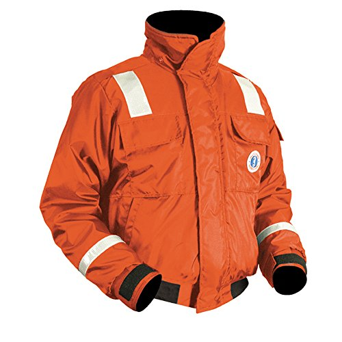 (Mustang Survival Classic Bomber Jacket (Orange, Large))