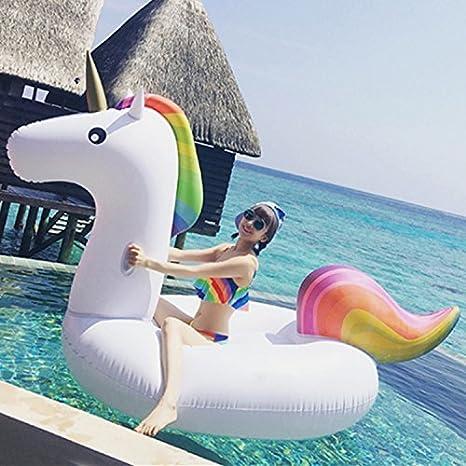 GSH Juguete inflable gigante flotante del agua del flotador del anillo del flamenco del flotador de