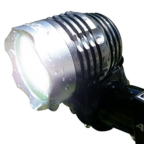 Price comparison product image Bright Eyes 1200 lumen Rechargeable Mountain, Road Bike Headlight, New 6400mAh battery (3+ HOURS on Bright Beam) with free taillight