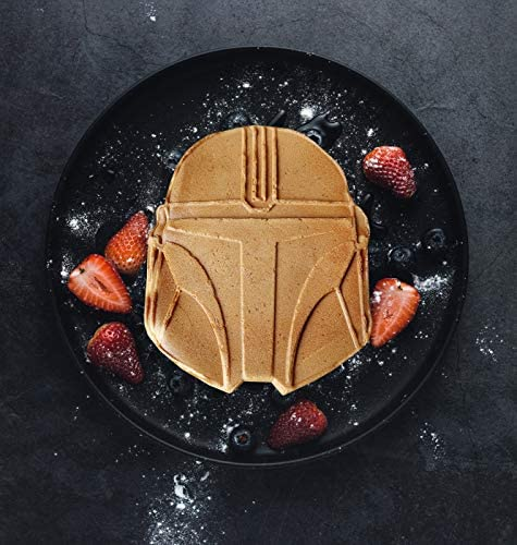 Star Wars Mandalorian Helmet Shaped Waffle Maker - Star Wars Kitchen Appliances