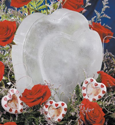 (Reusable Heart Ice Sculpture Mold)