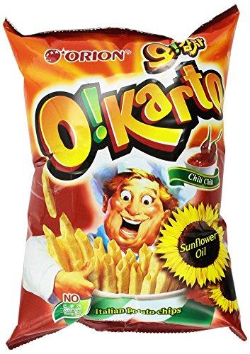 Orion O!karto Potato Chips - Italian Chili Flavor 4.06 Oz (Pack of 2) ()