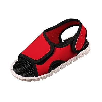 de78e2840b134 OHQ Enfants GarçOns Et Filles Velcro Sandales De Sport Chaussures Plage  Plastique Scratch Ete Kickers Vert Rouge Noir ÉTé BéBé Crochet   Boucle  Solide ...