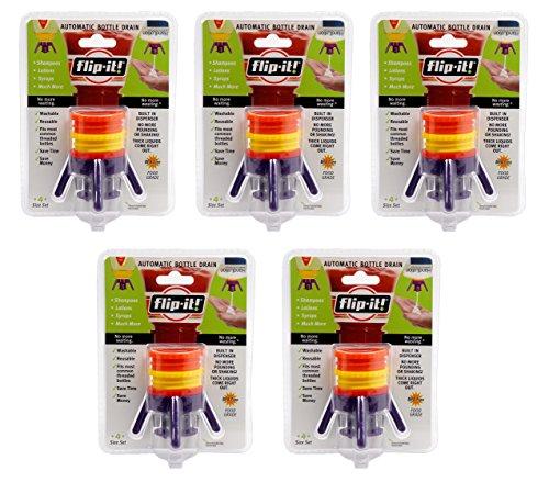 Flip-It FL4X1AP5 Bottle Empyting Kit, Kitchen/All Purpose, 5-Pack -
