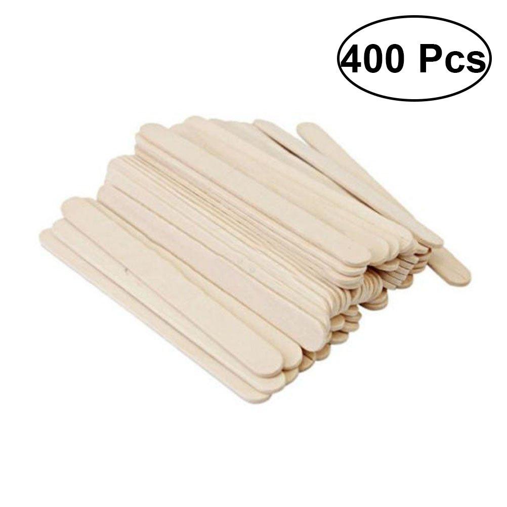 Rosenice Palitos de madera natural para manualidades, 400 unidades