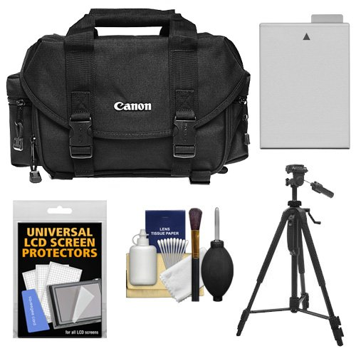 Canon 2400 Digital SLR Camera Case with LP-E8 Battery + Tripod + Accessory Kit for Rebel T2i, T3i, T4i, T5i