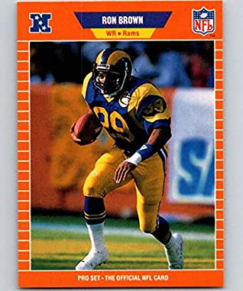 Amazon.com: 1989 Pro Set #196 Ron Brown LA Rams NFL
