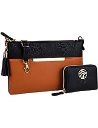 Crossbody Bags for Women Medium Size with Tassel + Wallet