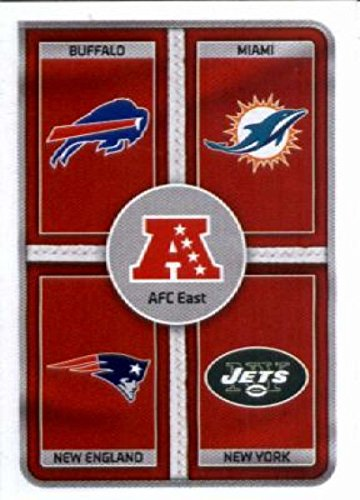 2016 Panini Stickers #4 AFC East Football Card