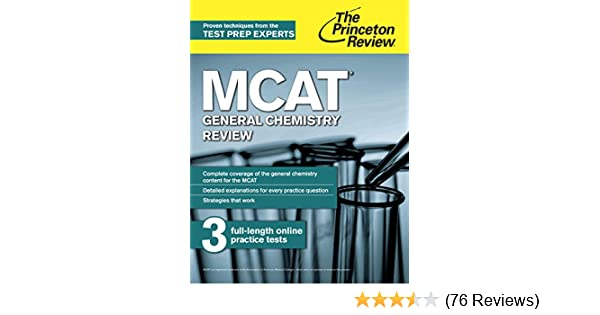 Amazon com: MCAT General Chemistry Review: New for MCAT 2015