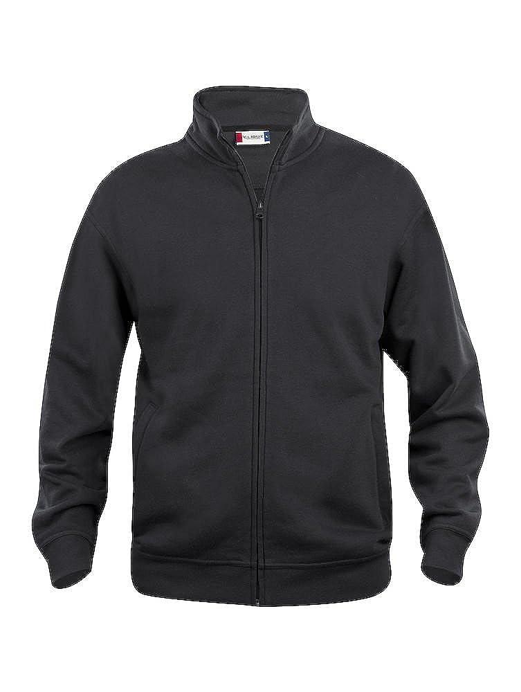 CqC Mens Zipped Sweatshirt Jacket- Plain Colour- No Logo- Medium Weight Zip Sweater- S-5XL SG68B