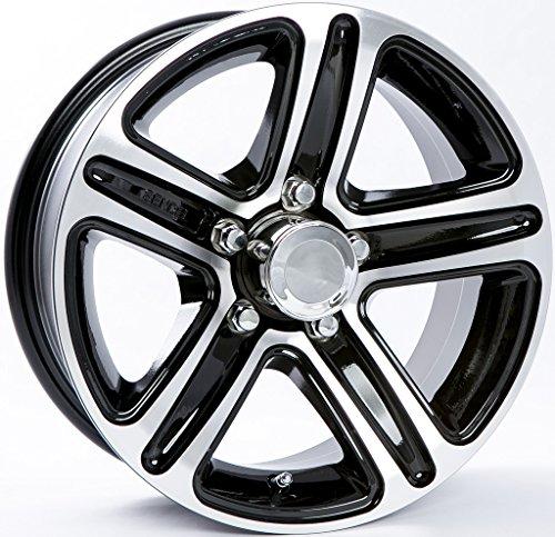 TWO (2) Aluminum Sendel Trailer Rims Wheels 5 Lug 13'' T09 Black Style by eCustomRim (Image #3)