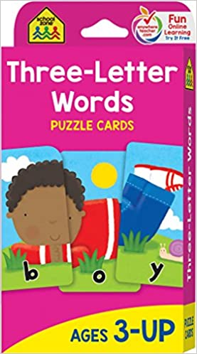 School Zone Three Letter Words Flash Cards Ages 3 And Up Letters Letter Recognition Word Recognition Spelling And More Flash Cards Edition
