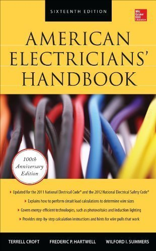 American Electricians Handbook, Sixteenth Edition by Croft, Terrell Published by McGraw-Hill Professional 16th (sixteenth) edition (2013) Hardcover