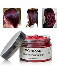 MOFAJANG Hair Coloring Dye Wax, Wine Red Instant Hair...