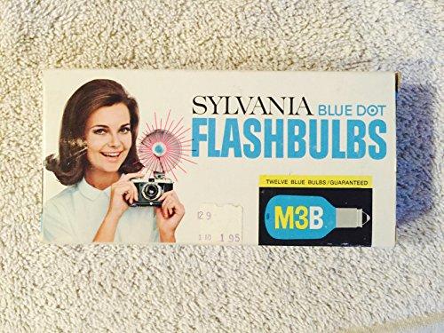Sylvania Flashbulbs - Sylvania Blue Dot FLASHBULBS - M3B Twelve Blue Bulbs.